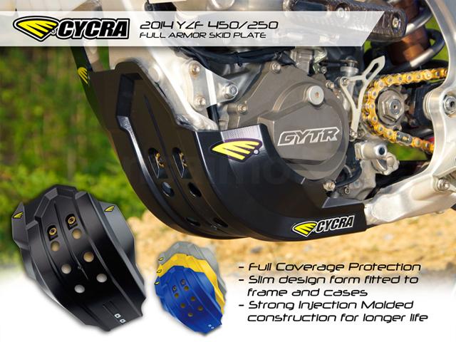 Black 14-18 YAMAHA YZ250F Cycra Full Coverage Skid Plate