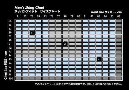 VIRUS ジャパンサイズ表
