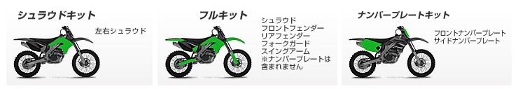 KAWASAKI用デカールキット