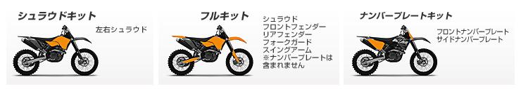 KTM用デカールキット